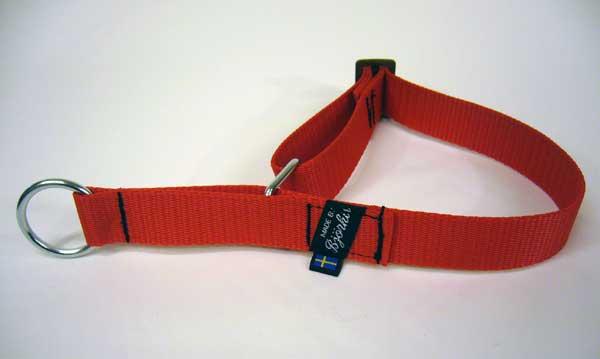 Björkis halsband, reglerbar halvstryp Röd
