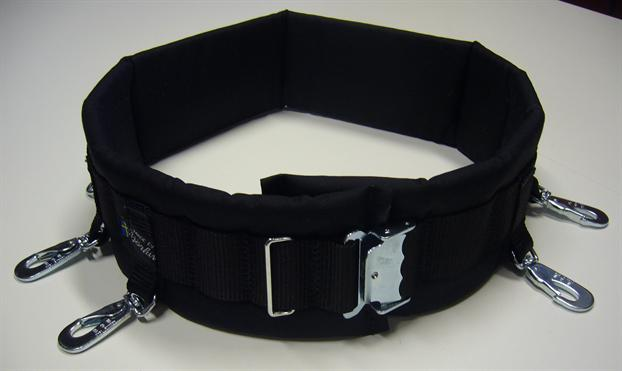 Björkis Hundförarbälte, med ringar och Bgb karbiner Svart